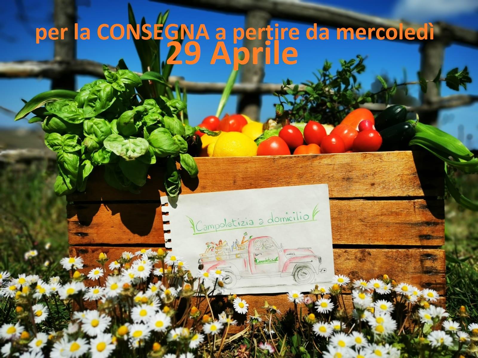 (Italiano) Consegna a domicilio dal 29 Aprile