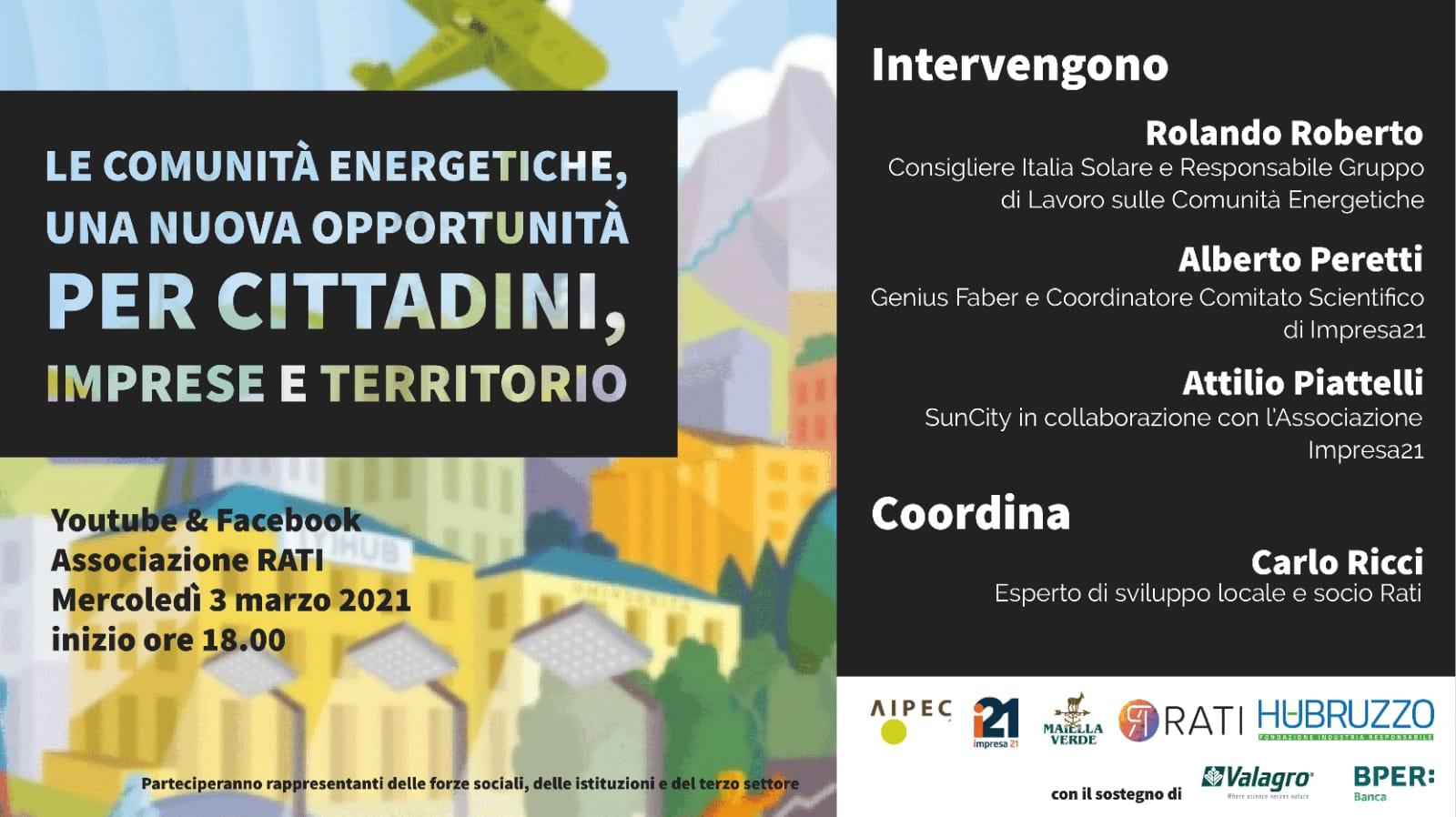 (Italiano) Webinar 3 Marzo – Comunità Energetiche