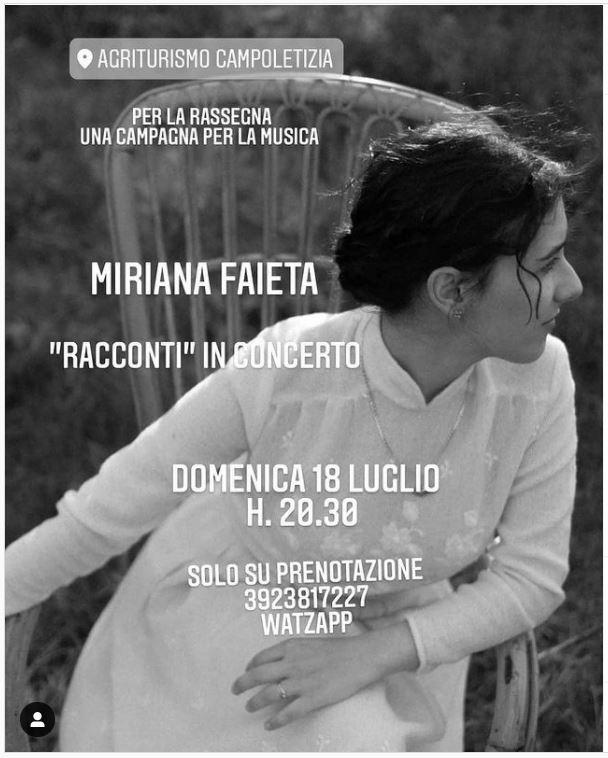 Cena Concerto di Miriana Faieta
