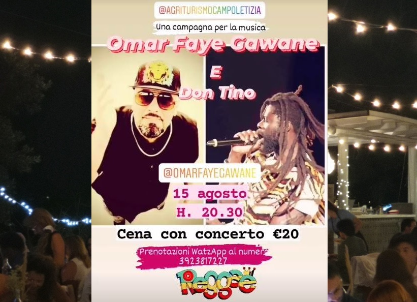 Cena Concerto Domenica 15 Agosto